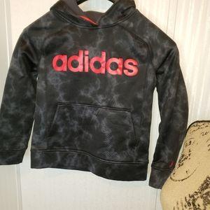 Boys Adidas Black & Red Hoodie